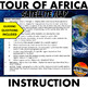 Tour of Africa Satellite Map Physical Geography Instructional Activity