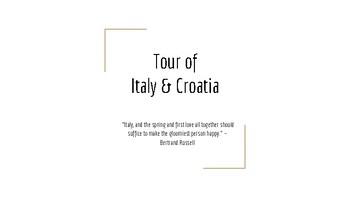 Tour of Italy & Croatia