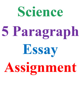 Tour of a Cell 5 Paragraph Essay Assignment