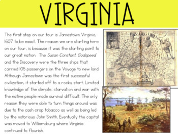 Tour of the 13 Colonies