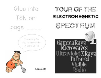Tour of the Electromagnetic Spectrum booklet for Interactive Science Notebook