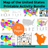 Tour of the USA - United States Map Activities BUNDLE