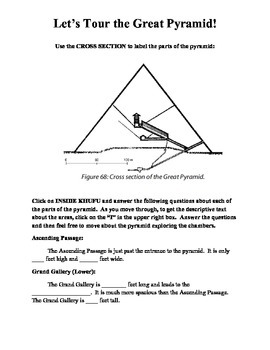 Tour the Great Pyramid Web Activity