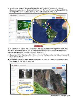 Latin America Tour on Google Tour Builder / Lesson Plan / WebQuest