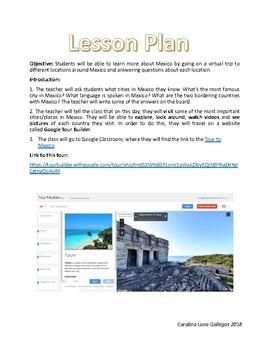 Mexico Tour on Google Tour Builder / Lesson Plan + WebQuest