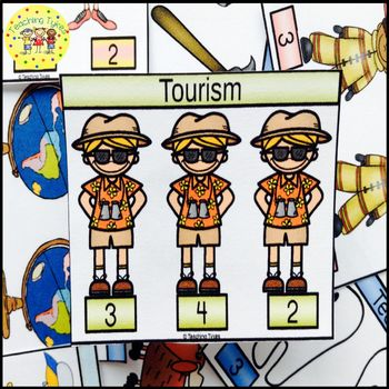 Tourism Count and Clip Task Cards