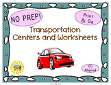 Transportation Worksheets Activities Games Printables and More