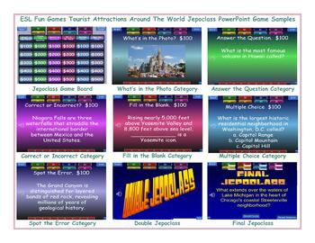 Tourist Attractions Around The World Jeopardy PowerPoint Game Slideshow