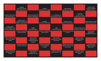 Tourist Attractions Around the World Spanish Checker Board Game