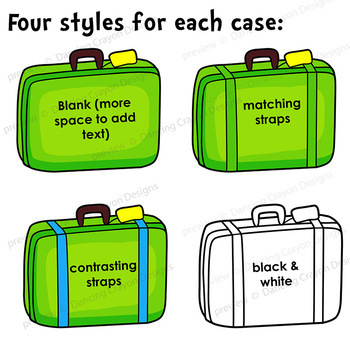 Tourist and Suitcase Clip Art | Luggage Clipart
