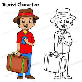 tourist and suitcase clip art luggage clipart by dancing crayon rh teacherspayteachers com tourist clipart png tourist attractions clipart