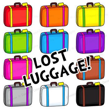 tourist and suitcase clip art luggage clipart by dancing crayon rh teacherspayteachers com clipart luggage label luggage clipart black and white