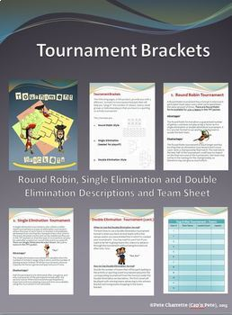 Tournament Brackets - Round Robin, Single and Double Elimination
