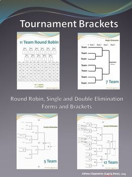 tournament brackets round robin single and double elimination