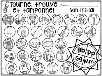 FRENCH Summer Math and Literacy Dab It Activities (Été)