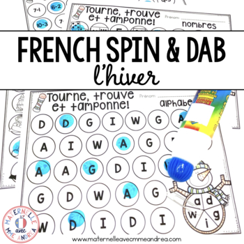 Tourne, trouve et tamponne! Hiver (FRENCH Winter Dab It activities)