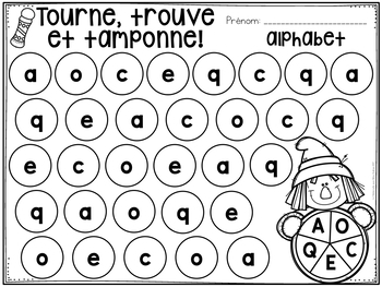 Tourne, trouve et tamponne! L'automne (FRENCH Fall Dab It activities)