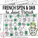 FRENCH Saint Patrick's Day Math and Literacy Dab It Activities