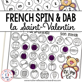 FRENCH Valentine's Day Math and Literacy Dab It Activities (la Saint-Valentin)