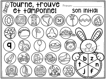 Tourne, trouve et tamponne! Pâques (FRENCH Easter Dab It activities)