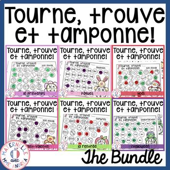 Tourne, trouve et tamponne! THE BUNDLE (FRENCH Dab It activities)