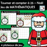 Tourner et compter à 25 – Noël Jeu de MATHÉMATIQUES