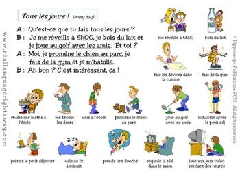 French Partner Conversation - Tous les jours (Daily routine)