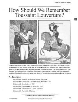 Toussaint Louverture: DBQ