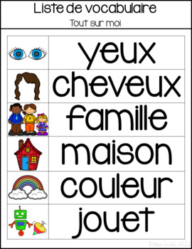 Tout Sur Moi - Primary French Activities