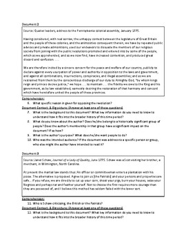 Towards Independence (AP US History - updated for 2017-2018 Rubrics)