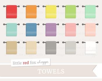 Hanging Towel Clipart; Bathroom, Bath, Linen
