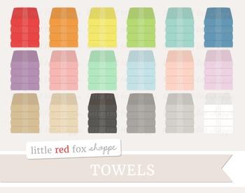 Towels Clipart; Bathroom
