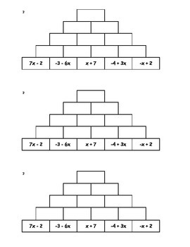 Tower Addition - Combining Like Terms 2