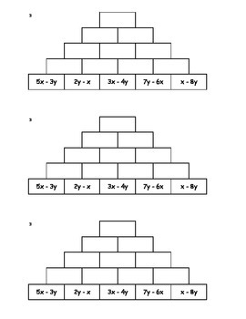 Tower Addition - Combining Like Terms 3