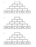 Tower Addition - Combining Like Terms (ALL 5!)