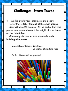 Tower Building Challenges and Recording Sheets
