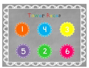 Tower Races Counting Game