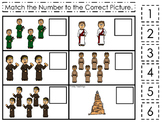 Tower of Babel Match the Number printable game. Preschool Bible Study Curriculum