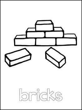 Tower of Babel Printable Color Sheets. Preschool Bible Study Curriculum.
