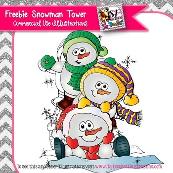 Tower of Snowmen FREEBIE