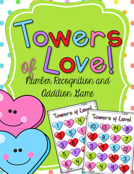 Towers of Love! A Valentine's Counting & Addition Game