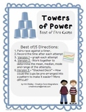 4-Pack Towers of Power Cup Stacking