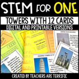 Towers with 12 Cards STEM for One - Distance Learning