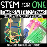 Towers with 12 Straws STEM for One - Distance Learning