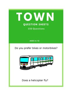 Town - ESL Question Sheets (Ages 6-12)