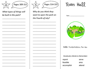 Town Hall Trifold - Storytown 2nd Grade Unit 5 Week 5