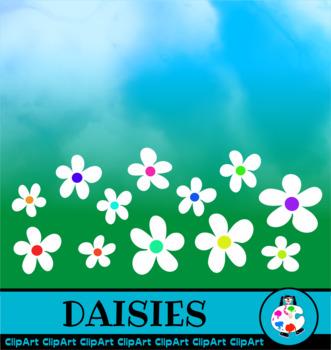 Town House ClipArt & Daisy Flowers