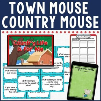 Town Mouse and Country Mouse Comprehension Activities in Digital and PDF Formats