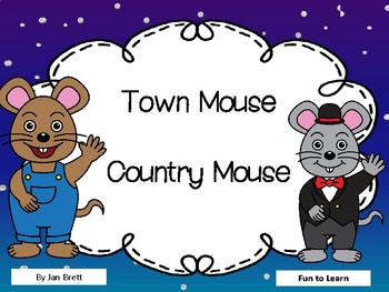 town mouse country mouse by jan brett 44 pgs common core activities. Black Bedroom Furniture Sets. Home Design Ideas