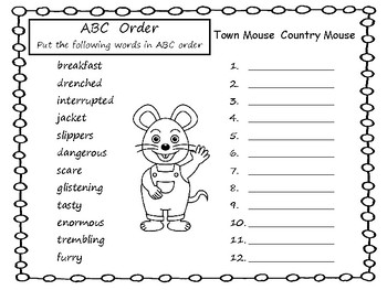 Town Mouse  Country Mouse   by Jan Brett  44 pgs Common Core Activities